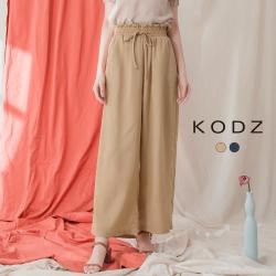 東京著衣-KODZ 優雅百搭花苞綁帶鬆緊質感寬褲-S.M.L(共二色)