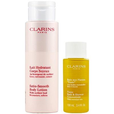 即期品CLARINS克蘭詩 水噹噹身體保濕乳200ml(TESTER版+芳香調和100ml