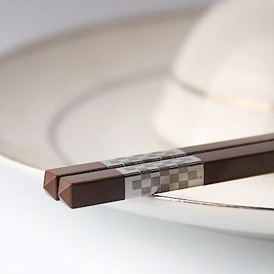 帝寶聚合金筷5入-咖啡2