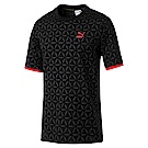 PUMA-男性流行系列LUXE印花短袖T恤-黑色-亞規