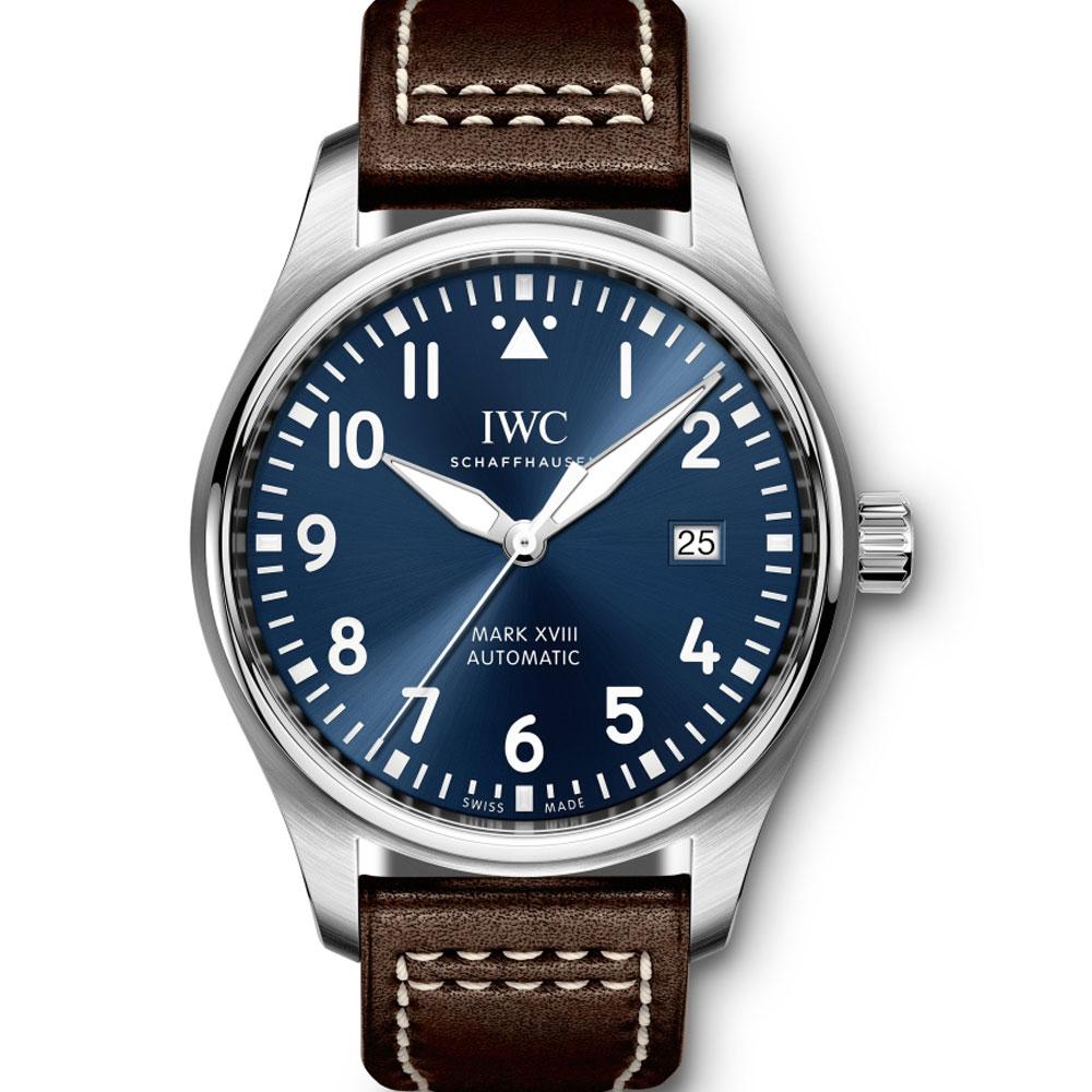 (無卡分期-24期)IWC 萬國錶馬克十八飛行員腕錶小王子特別版-夜藍/40mm