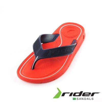 Rider 坑條寬帶夾腳拖鞋 男款 紅
