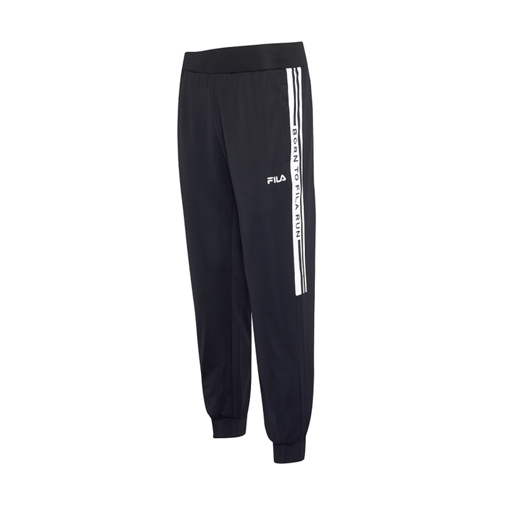 FILA 男抗UV吸濕排汗針織長褲-黑 1PNV-1306-BK
