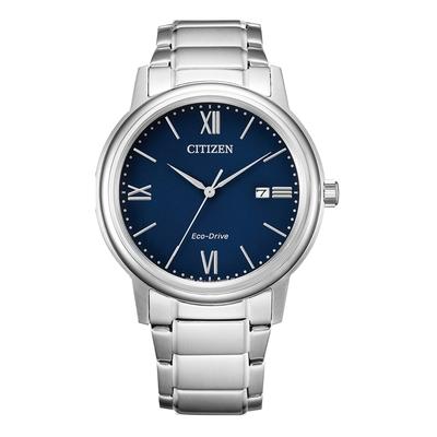 CITIZEN Eco-Drive 羅馬假期時尚男錶-銀X藍-AW1670-82L-41.5mm