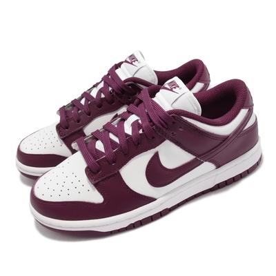 Nike 休閒鞋 Wmns Dunk Low 運動 女鞋 經典款 皮革 質感 球鞋 穿搭 酒紅 白 DD1503-108