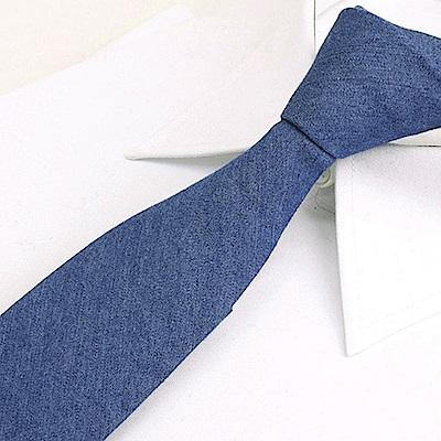 拉福   領帶牛仔窄版領帶6cm領帶拉鍊領帶