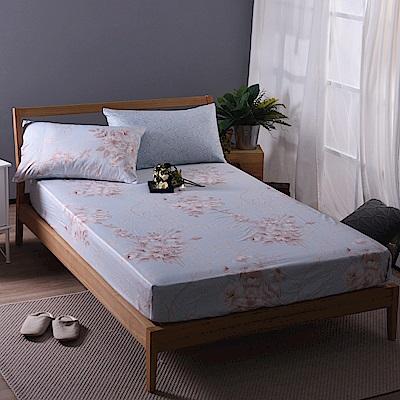 喬曼帝Jumendi-輕柔花香 專利吸濕排汗天絲加大三件式床包組