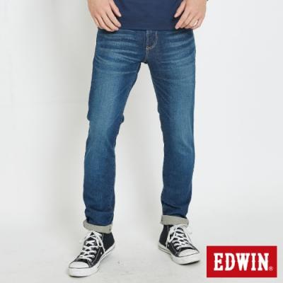 EDWIN 503 基本五袋 窄直筒牛仔褲-男-中古藍