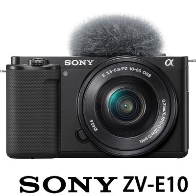 SONY ZV-E10L 附 16-50mm 單鏡組 (公司貨) vlog 微單眼數位相機 4K 翻轉螢幕
