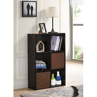 TC home 3X2收納盒木櫃-深胡桃木色