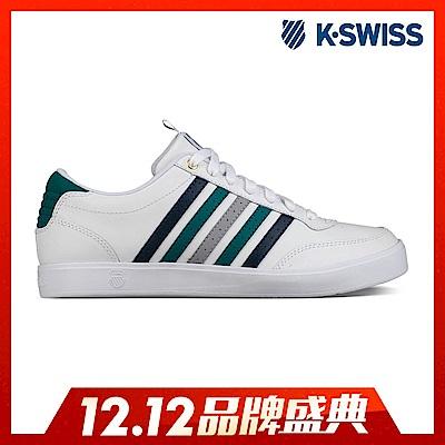 K-Swiss Court Lite CMF休閒運動鞋-男-白/綠/藍