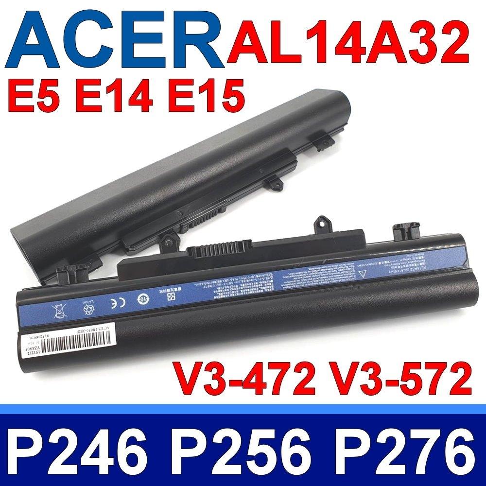 ACER AL14A32 高品質電池 E5-571G E5-511 E5-521 E5-551 E5-571 E5-572 Extensa 2509 2510 2510G P246 P256 P276