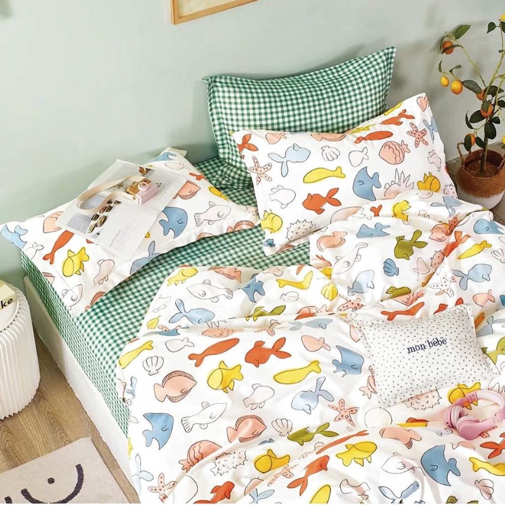 A-ONE 100%純棉 枕套床包組單/雙/大 均一價(限時下殺)