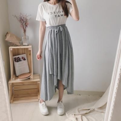 DoMiss純棉鬆緊不規則傘裙(3色)