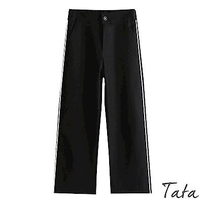 簡約線條後鬆緊九分褲 TATA