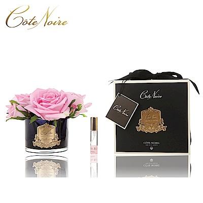 法國 CoteNoire 蔻特蘭 五朵粉紅玫瑰香氛花黑瓶