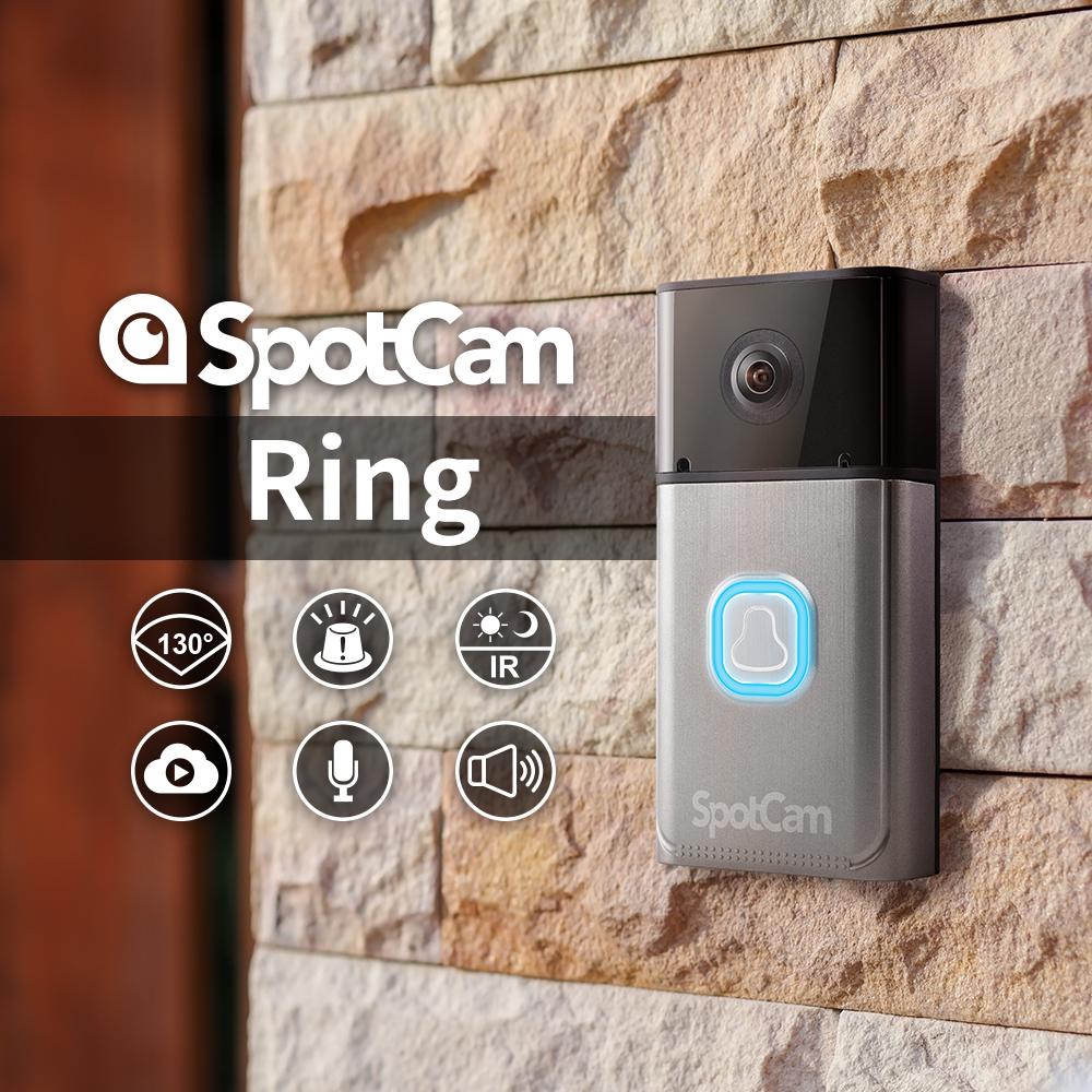 SpotCam Ring 1080P真雲端全無線智慧WiFi視訊門鈴攝影機