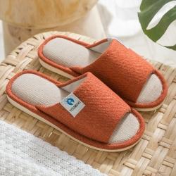 日式舒適棉麻室內拖鞋