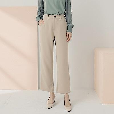 純色質感西裝寬褲-OB嚴選