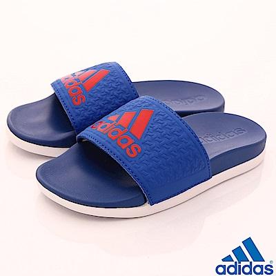 adidas童鞋ADILETTE運動拖鞋NI373藍小童段