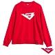 【PONY】長袖LOGO大學T 圓領T T恤 女款 紅 product thumbnail 1