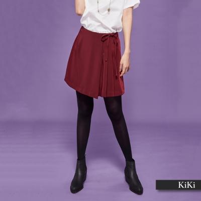 【KiKi】典雅修身設計-短褲(二色)