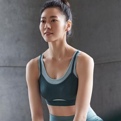 蕾黛絲-LadieSport好動 Level 2 舒活背心 M-EEL 運動內衣 個性綠