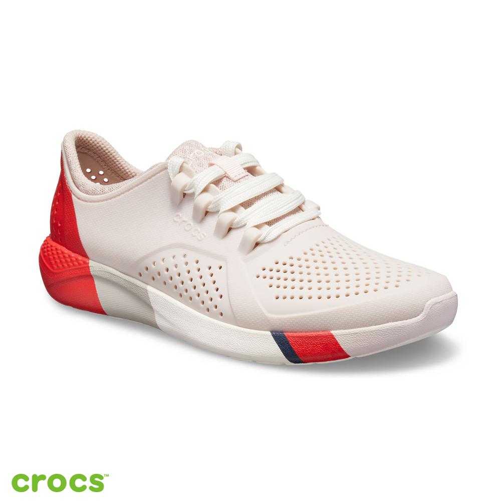 Crocs 卡駱馳 (女鞋) LiteRide撞色女士步行鞋 205789-6PL