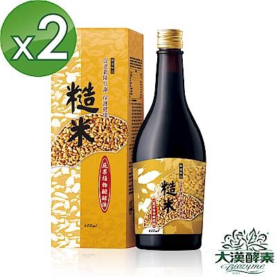 【大漢酵素】糙米蔬果植物醱酵液2入組(600mlx2)