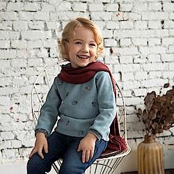 PIPPY 放羊的小孩假兩件式上衣 灰藍