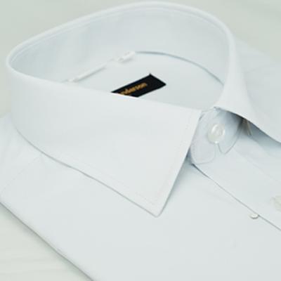 金‧安德森 白色斜紋窄版短袖襯衫fast