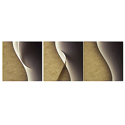 123點點貼 三聯式無痕創意壁貼-細緻典藏-30x30cm