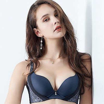 EASY SHOP-輕舞悸動 大罩杯B-E罩成套內衣(海灣藍)