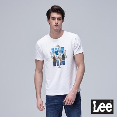 Lee短袖T恤 照片印花 白-男