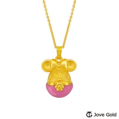 Disney迪士尼系列金飾 彩蛋美妮黃金墜子 送項鍊