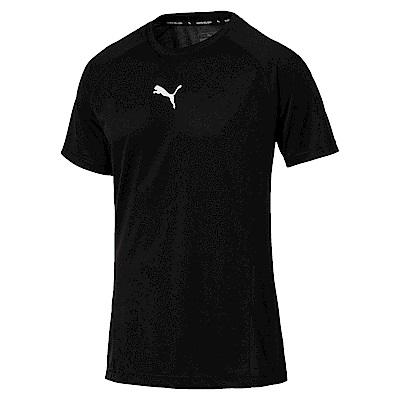 PUMA-男性基本系列Tec小跳豹短袖T恤-黑色-歐規