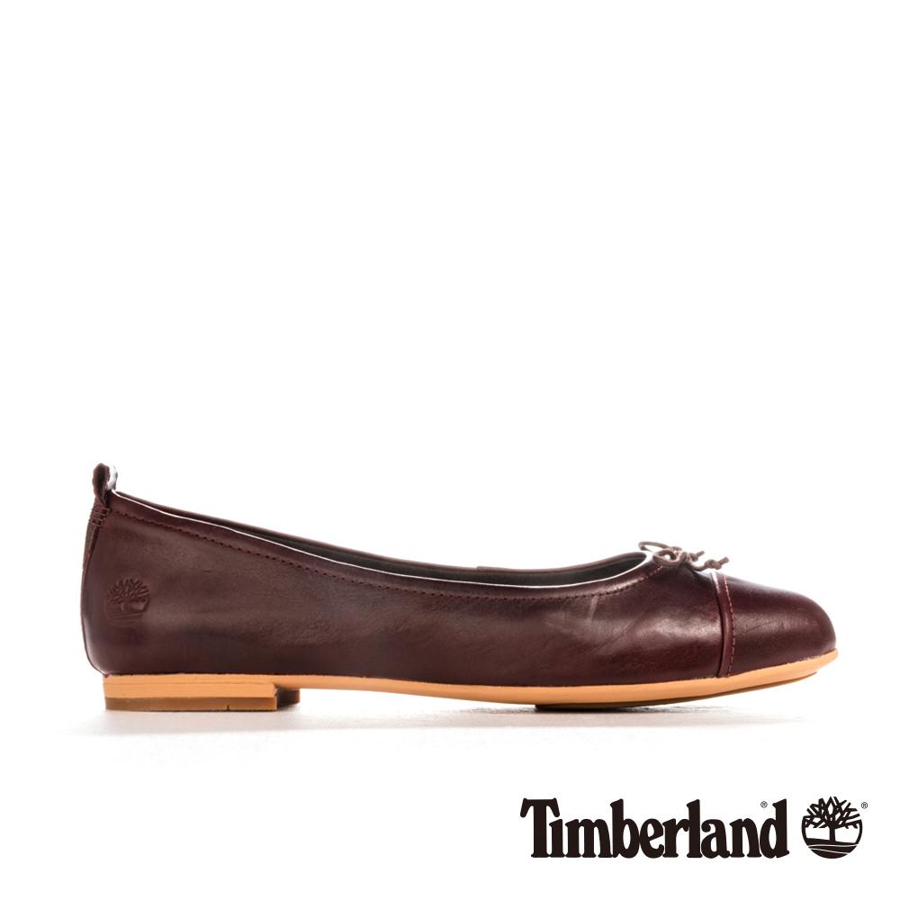 Timberland 女款紅褐色皮革Raw Lake休閒鞋