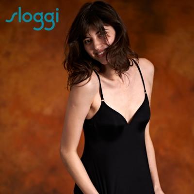sloggi S by sloggi Silhouette Top高端系列長版背心式內衣 M-L 純粹黑 83-763 04