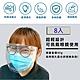 防疫護目面罩(8入組)  防護眼鏡 防護 防疫眼鏡 透明防塵護目鏡  防疫必備 可戴眼鏡 product thumbnail 2