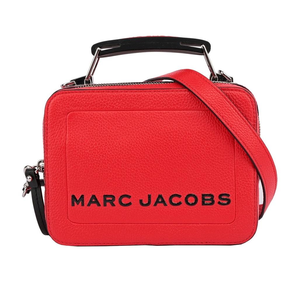 MARC JACOBS THE BOX 20 雙拉鍊牛皮手提/肩背兩用包(小款 /紅色)
