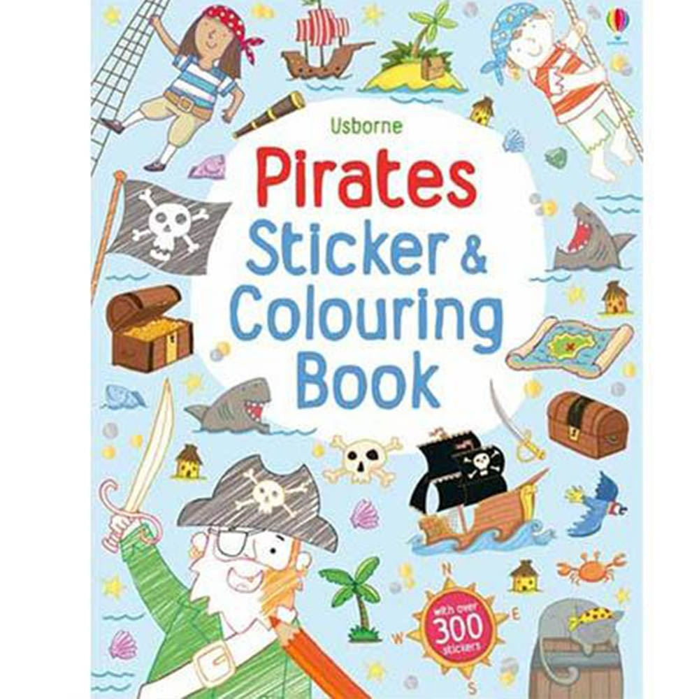 Pirates Colouring&Sticker Book 海盜著色貼紙書