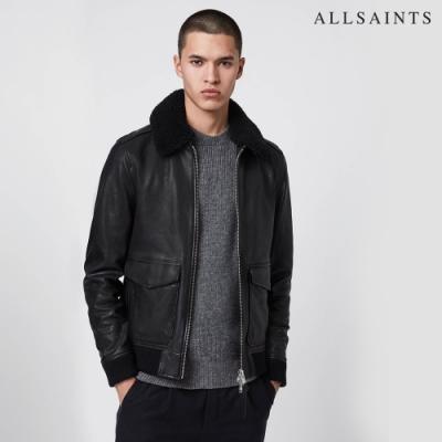 ALLSAINTS PHOENIX 毛領羊皮皮衣夾克