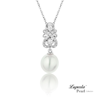 大東山珠寶 純銀晶鑽珍珠項鍊 戀人情詩