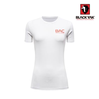 【BLACK YAK】女BAC logo吸排短袖上衣 [白色]