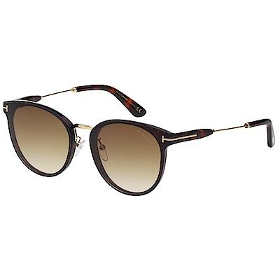TOM FORD 復古 太陽眼鏡(琥珀色)TF725K