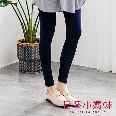 日系小媽咪孕婦裝-孕婦褲~百搭素面棉質內搭褲 F、XL (共三色)