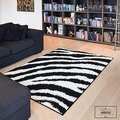 Ambience 比利時Shiraz 地毯-黑與白(斑馬紋 160x230cm)