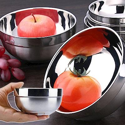 304不鏽鋼雙層加厚隔熱防燙碗6入組