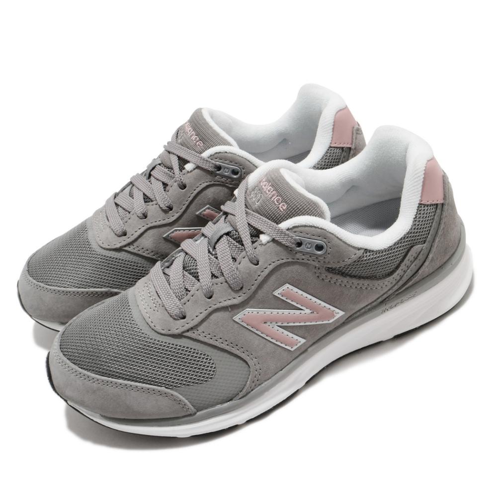 New Balance 休閒鞋 880 Wide 寬楦 運動 女鞋 基本款 舒適 簡約 麂皮 球鞋 穿搭 灰 粉 WW880GP4D