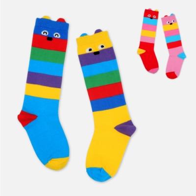 WHY AND 1/2 普普熊條紋長筒襪 多色可選
